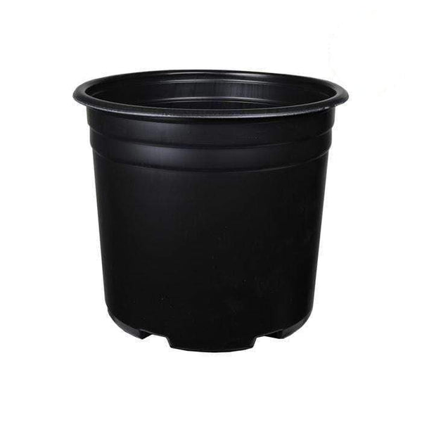 DL Wholesale Round Pots, Thermoform_Blow Mold Pots 5 Gal. Squat Thermoformed Plastic Pot