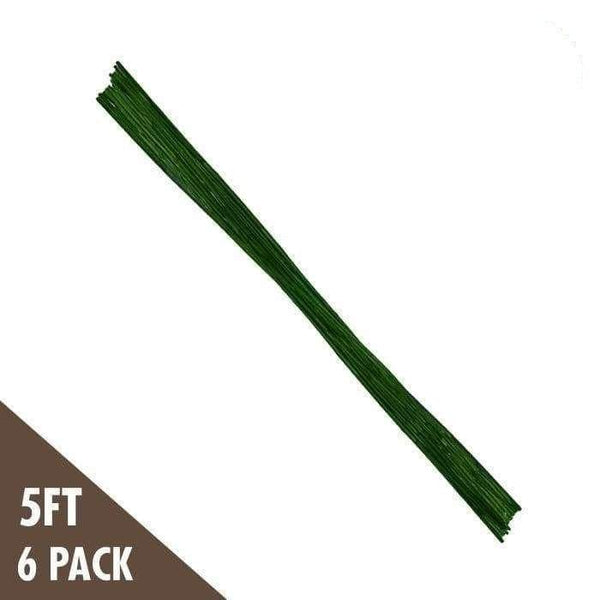 DL Wholesale Bamboo 5' Green Bamboo Stakes Heavy Duty (6-pack)