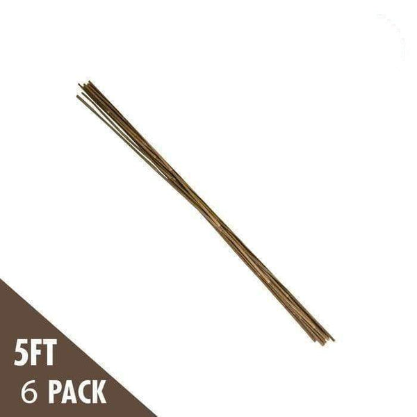 DL Wholesale Bamboo 5' Natural Bamboo Stakes Heavy Duty (6-pack)