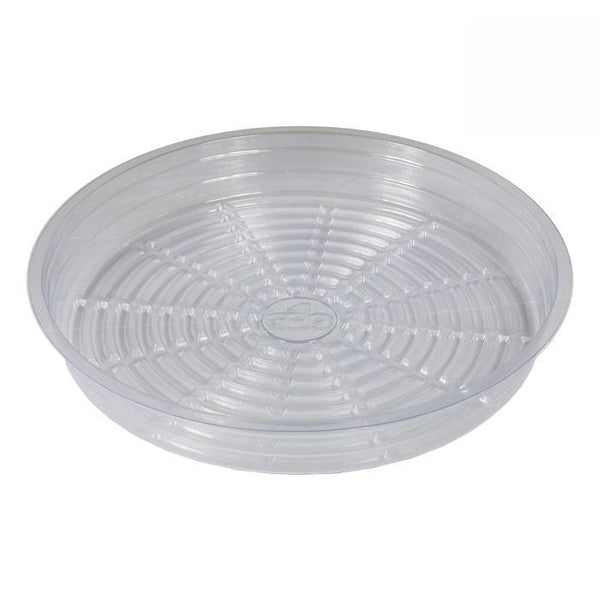 DL Wholesale Saucers, Clear Plastic Saucers Grow1 Pot Saucer - 14''