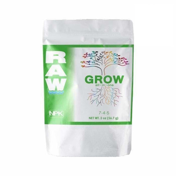 DL Wholesale NPK Industries, RAW Solubles, RAW Grow All-In-One NPK RAW GROW 2oz