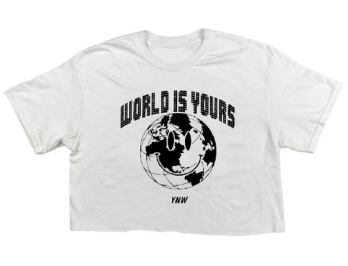 World Is Yours Womens Crop Tee