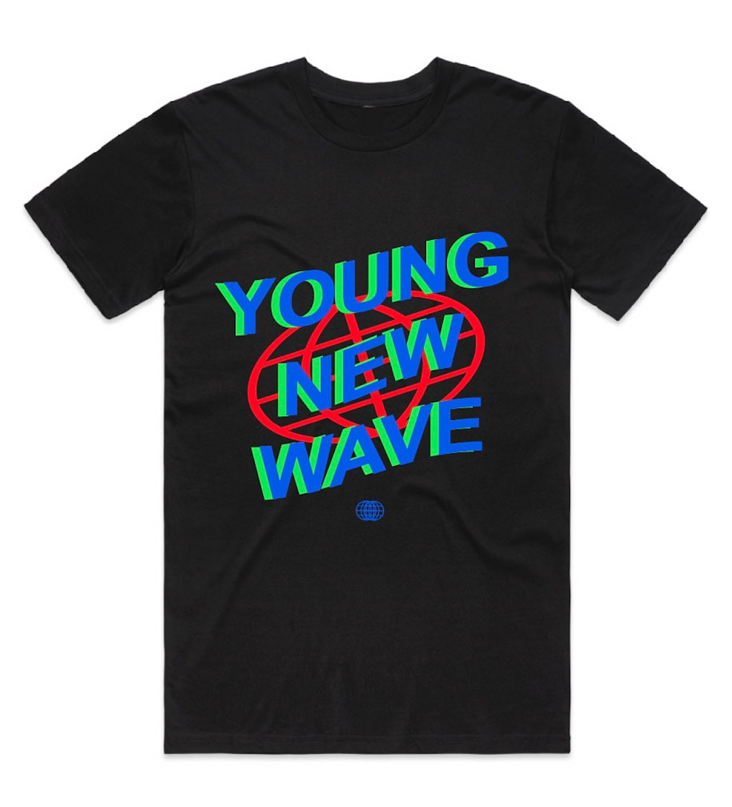 Young New Wave Retro Tee Black
