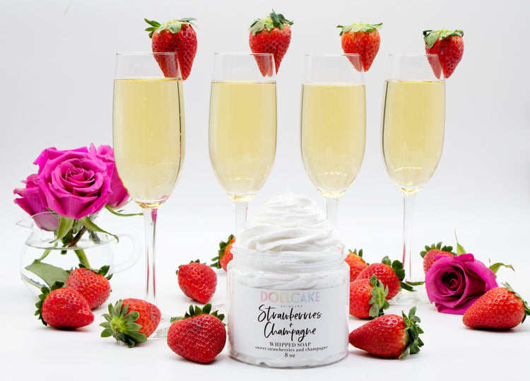 Strawberries and Champagne Whipped Soap