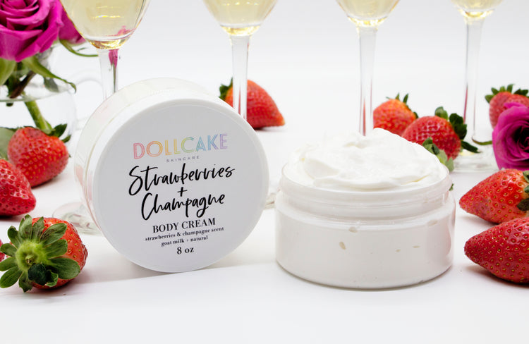 Strawberries and Champagne Goat Milk Body Cream