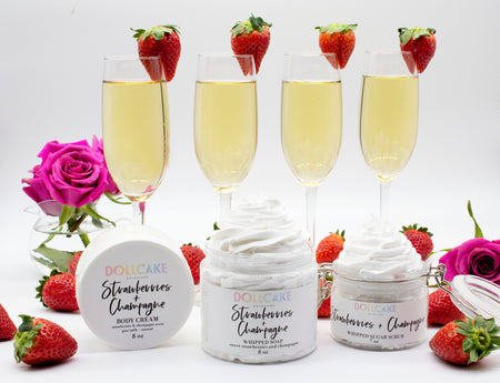 Strawberries and Champagne Collection Set