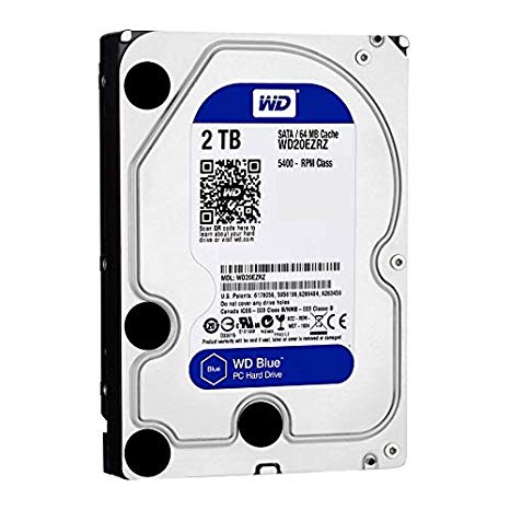 DISCO DURO WD BLUE 3.5 2TB SATA3 6GB/S 64MB 5400RPM WD20EZRZ