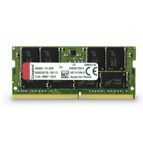 MEMORIA RAM SODIMM KINGSTON KVR 16GB DDR4 2400MHZ  CL17 KVR24S17D8/16