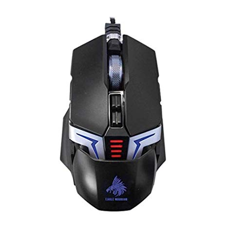 MOUSE EAGLE WARRIOR THE FLASH/NEGRO/7 COLORES LED/ 7 BOTONES PROGRAMABLES/4000 DPI/DISE?O ERGONOMICO/GAMER