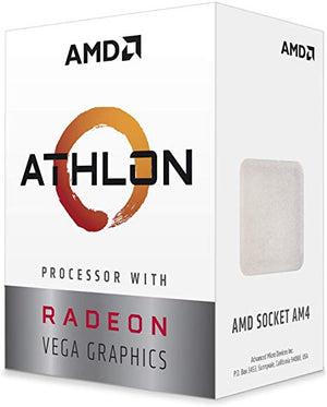 PROCESADOR AMD ATHLON 200GE S-AM4 35W 3.2 GHZ CACHE 4 MB 2CPU 3GPU RADEON VEGA 3 YD200GC6FBBOX