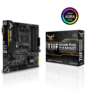 TARJETA MADRE ASUS B450 AMD S-AM4 2A GEN/4X DDR4 2666/HDMI/DVI-D/M.2/2X USB 3.1/MATX/GAMA MEDIA/GAMER/RGB TUF-B450M-PLUS-GAMING
