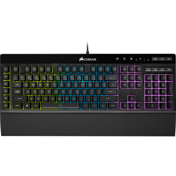 TECLADO CORSAIR ALAMBRICO K55 RGB LED RGB CH-9206015-SP