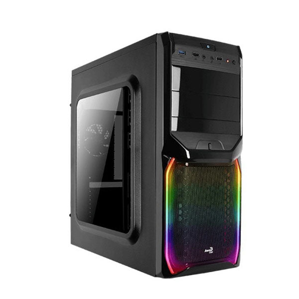 GABINETE AEROCOOL V3X RGB WINDOW BLACK ATX/MINI ATX