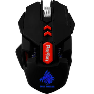 MOUSE EAGLE WARRIOR RAPTOR /OPTICO /ALAMBRICO/USB 4000 DPI PROGRAMABLES /DETECCION DE MOVIMIENTO /ALTO RENDIMIENTO / PC/ GAMER