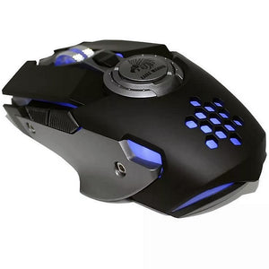 MOUSE EAGLE WARRIOR HIVE/COLOR NEGRO/LUZ LED/ 6 BOTONES PROGRAMABLES/4 CAMBIOS DPI/DISE?O ERGONOMICO/GAMER