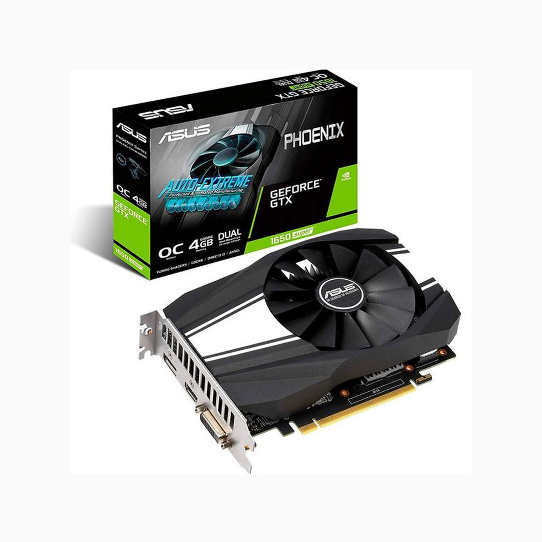 TARJETA DE VIDEO ASUS GEFORCE GTX 1650 SUPER 4GB GDDR6 128-BIT PH-GTX1650S-O4G