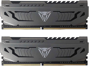 MEMORIA RAM PATRIOT VIPER STEEL 16GB DDR4 4133MHZ (2X8GB) GRAY HEATSINK CL19 PVS416G413C9K