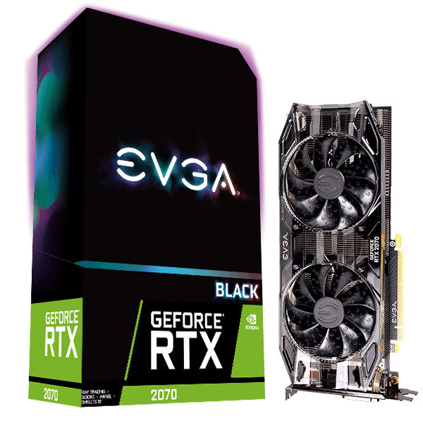 TARJETA DE VIDEO EVGA GEFORFCE RTX 2070 BLACKGAMING 08G-P4-1071-KR