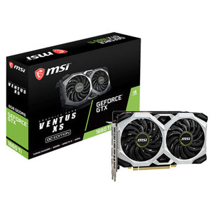 TARJETA DE VIDEO MSI GEFORCE GTX 1660 TI VENTUS XS OC 6GB DDR6