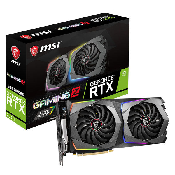 TARJETA DE VIDEO MSI GEFORCE RTX 2070 GAMING Z 8GB/DDR6/256B