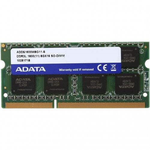 MEMORIA ADATA SODIMM DDR3L 8GB PC3L-12800 1600MHZ CL11 204PIN 1.35V ADDS1600W8G11-S