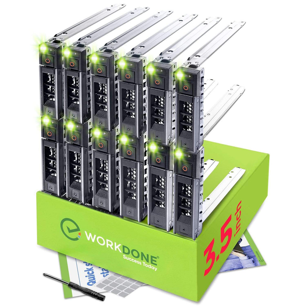 "WORKDONE 12-Pack - 3.5"" Hard Drive Caddy - 0Y796F Compatible for Listed Dell PowerEdge 14-15th Gen. Servers"