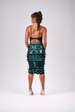 Emerald Chevron Sequin Pencil Skirt
