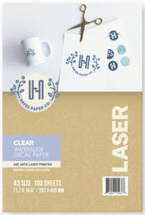 Clear laser Waterslide Decal Paper