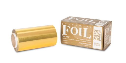 Procare - Premium Range Hair Foil Rolls Superwide 120mm x 100m - Gold