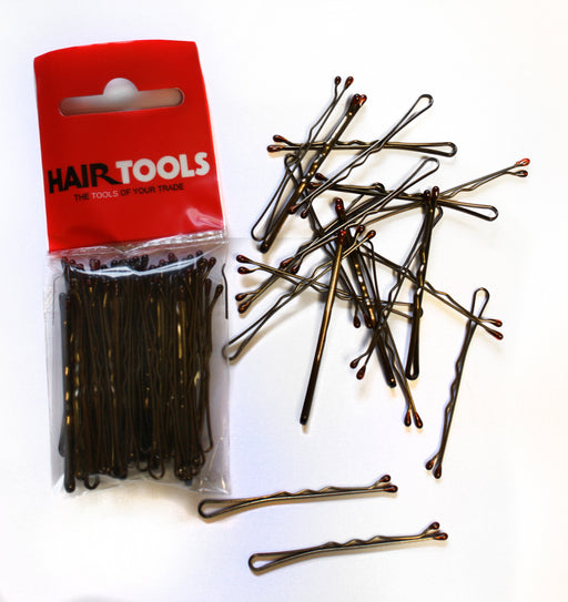 "Hair Tools - 2"" Waved Grips Brown Box of 50"