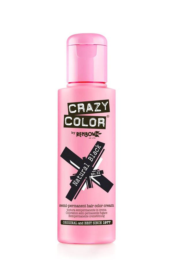 Crazy Color - 32 Natural Black 100ml