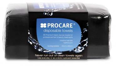 Procare - Disposable Towel 40cm x 80cm - Black