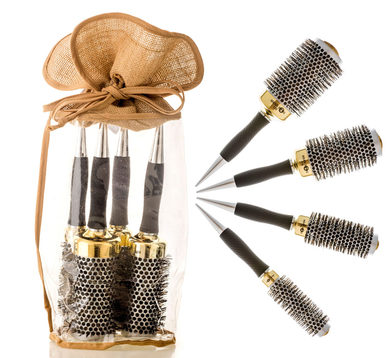 Head Jog - Gold Thermal Brush Set in FREE carry case