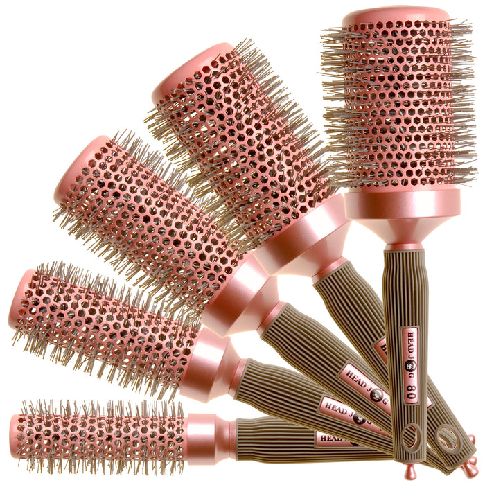 Head Jog - Oval bag Pink Brush Set in FREE Bag