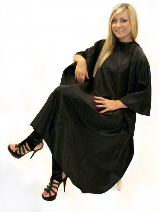 Hair Tools - Unisex Gown Black With Poppers