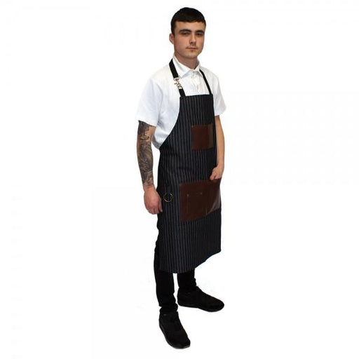 Hair Tools - Pinstripe Barber Apron