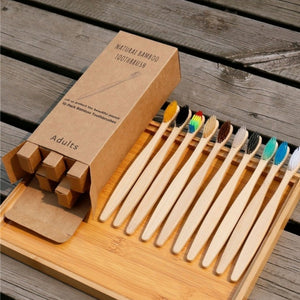 10 Bamboo toothbrushes