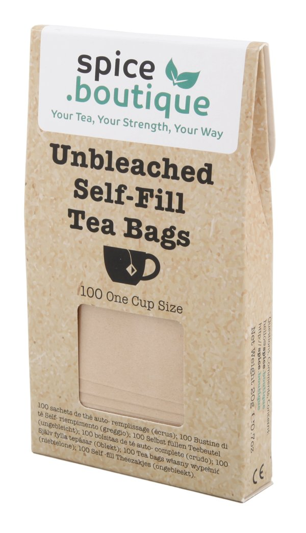100 5x7cm Self Fill Paper Teabags