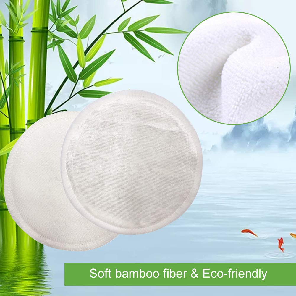 16 Reusable Bamboo Makeup Remover Pads & Kit