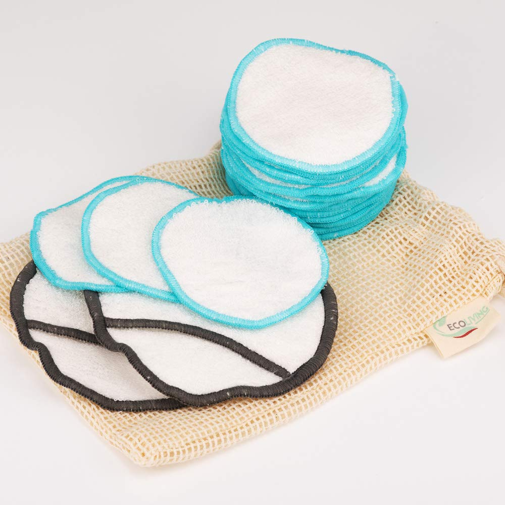18 Reusable Bamboo Cotton Makeup Pads & 200 Bamboo Cotton Buds