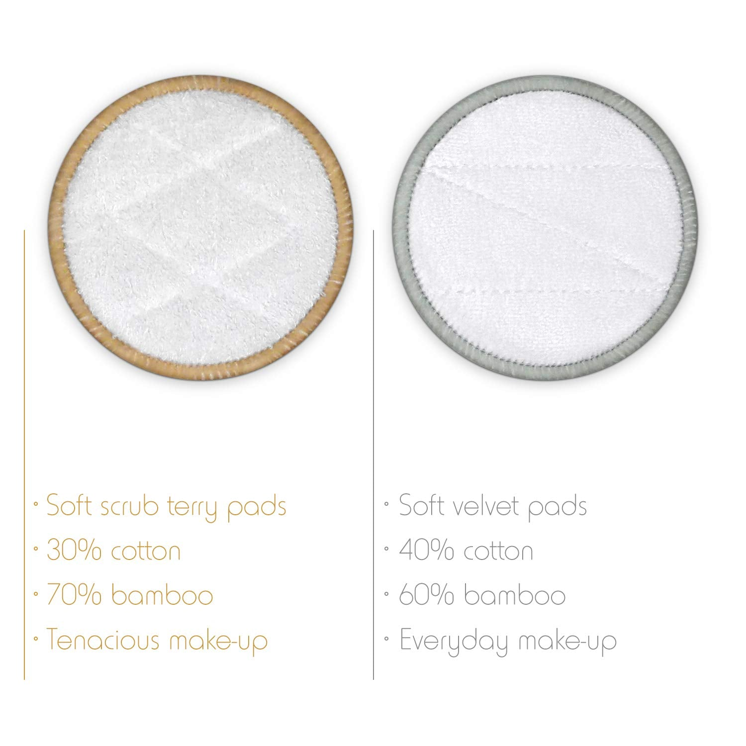 16 Reusable Bamboo Make Up Remover Pads