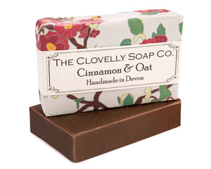 Handmade Cinnamon & Oat Natural Soap Bar 100g