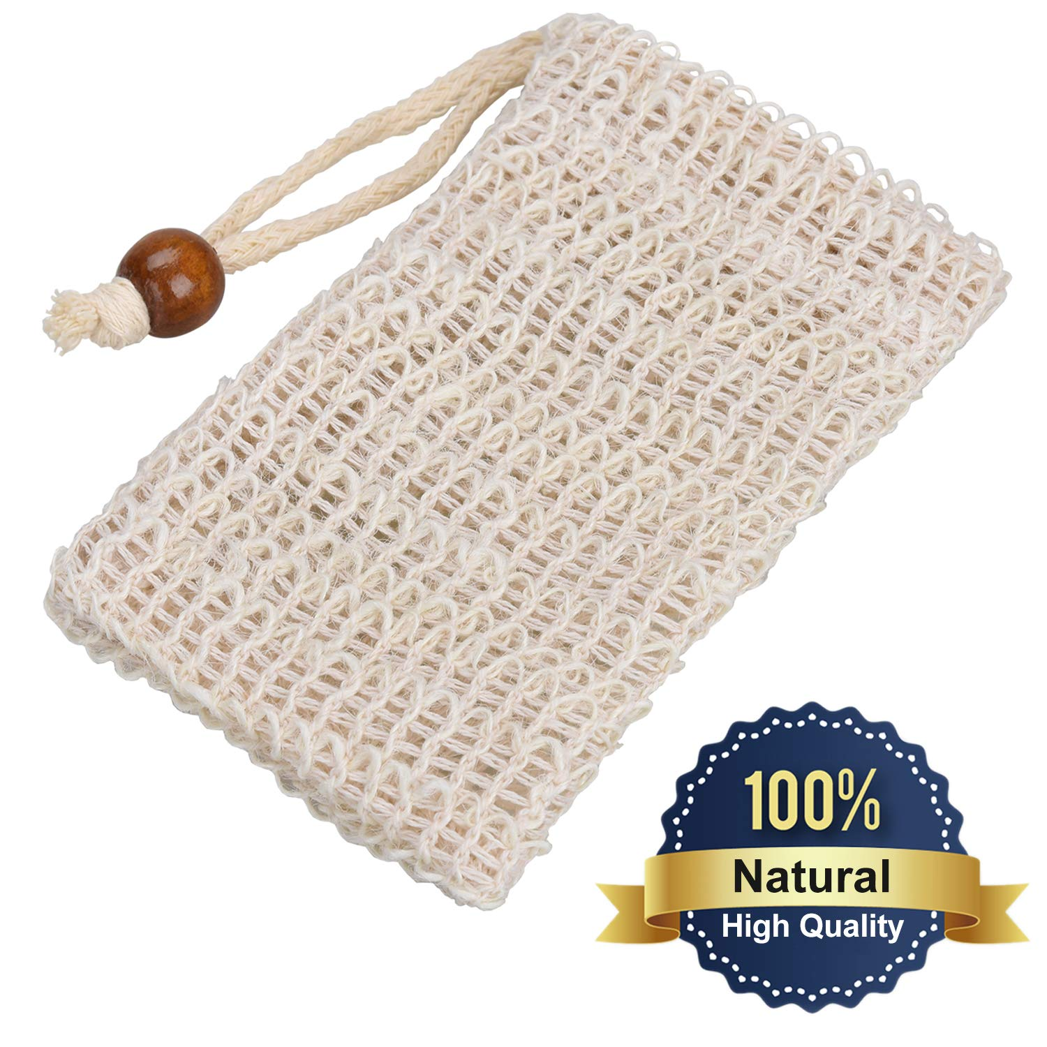 4 Exfoliating Sisal Soap Bags