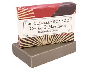 Handmade Ginger & Mandarin Natural Soap Bar 100g