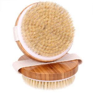 2 Natural Bamboo Brushes For Dry Skin