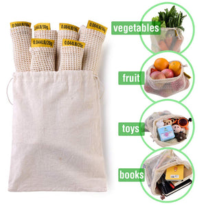 7 Reusable Mesh Produce Bags