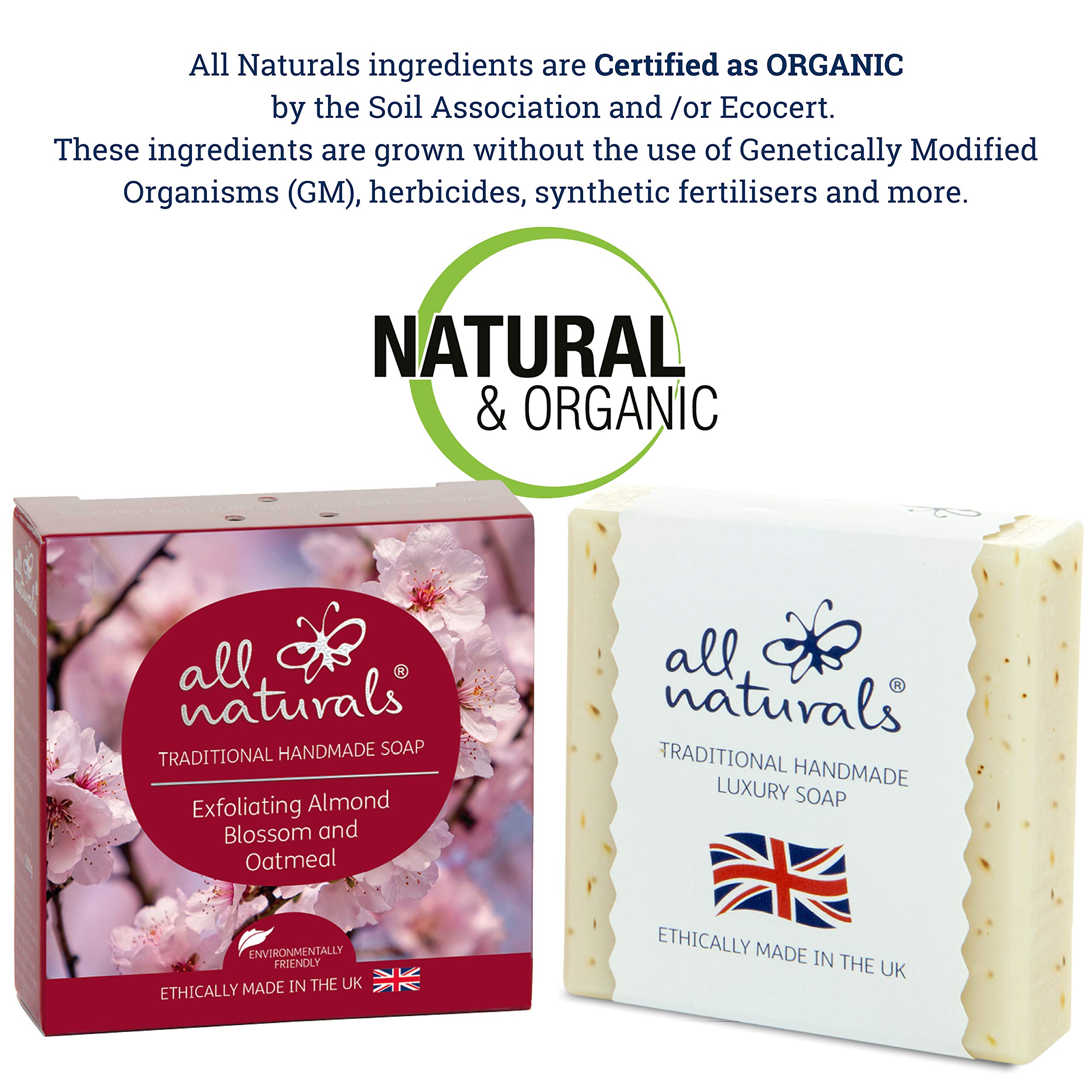 100g Natural Almond & Oatmeal Soap