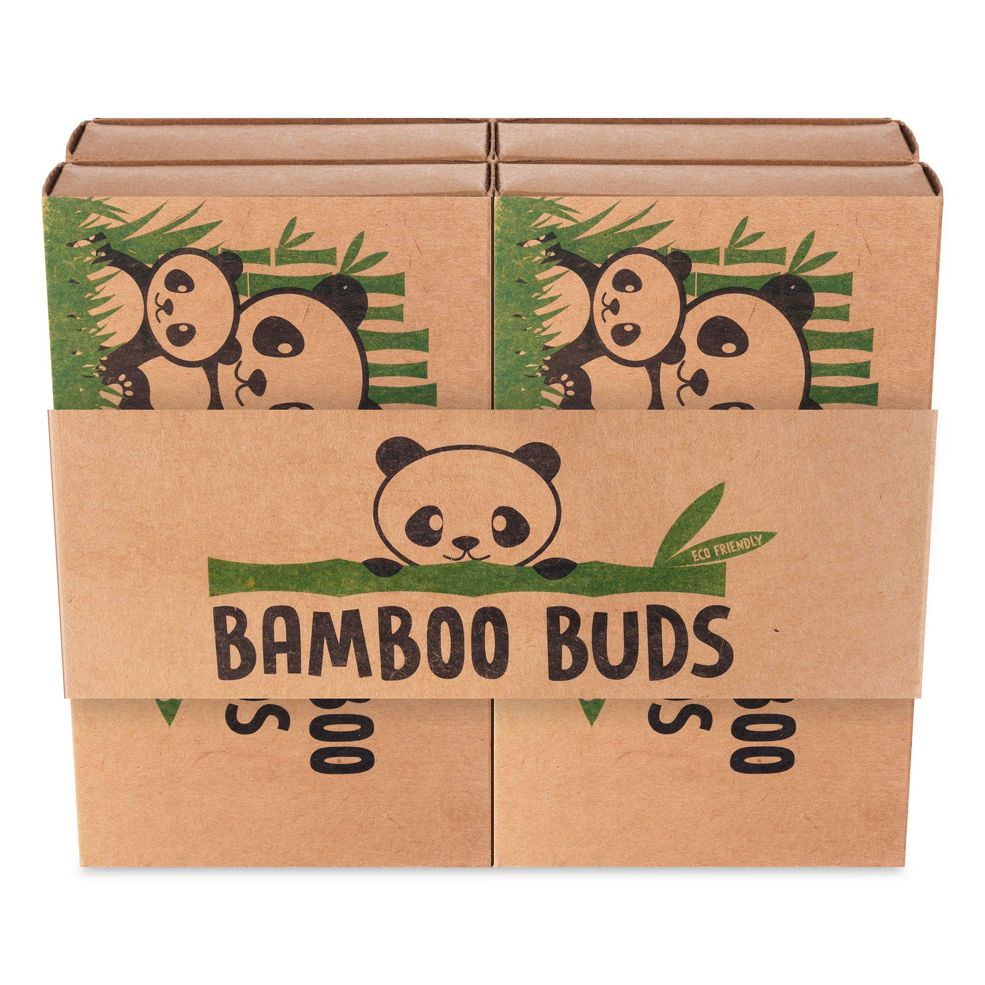 Bamboo Cotton Buds | Pack of 200pcs Eco-Friendly and Biodegradable Cotton Buds