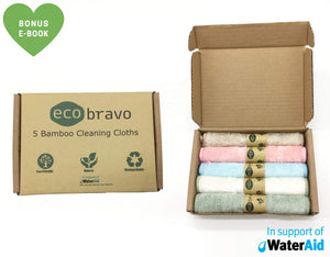 5 Reusable Bamboo Kitchen Cleaning Cloths