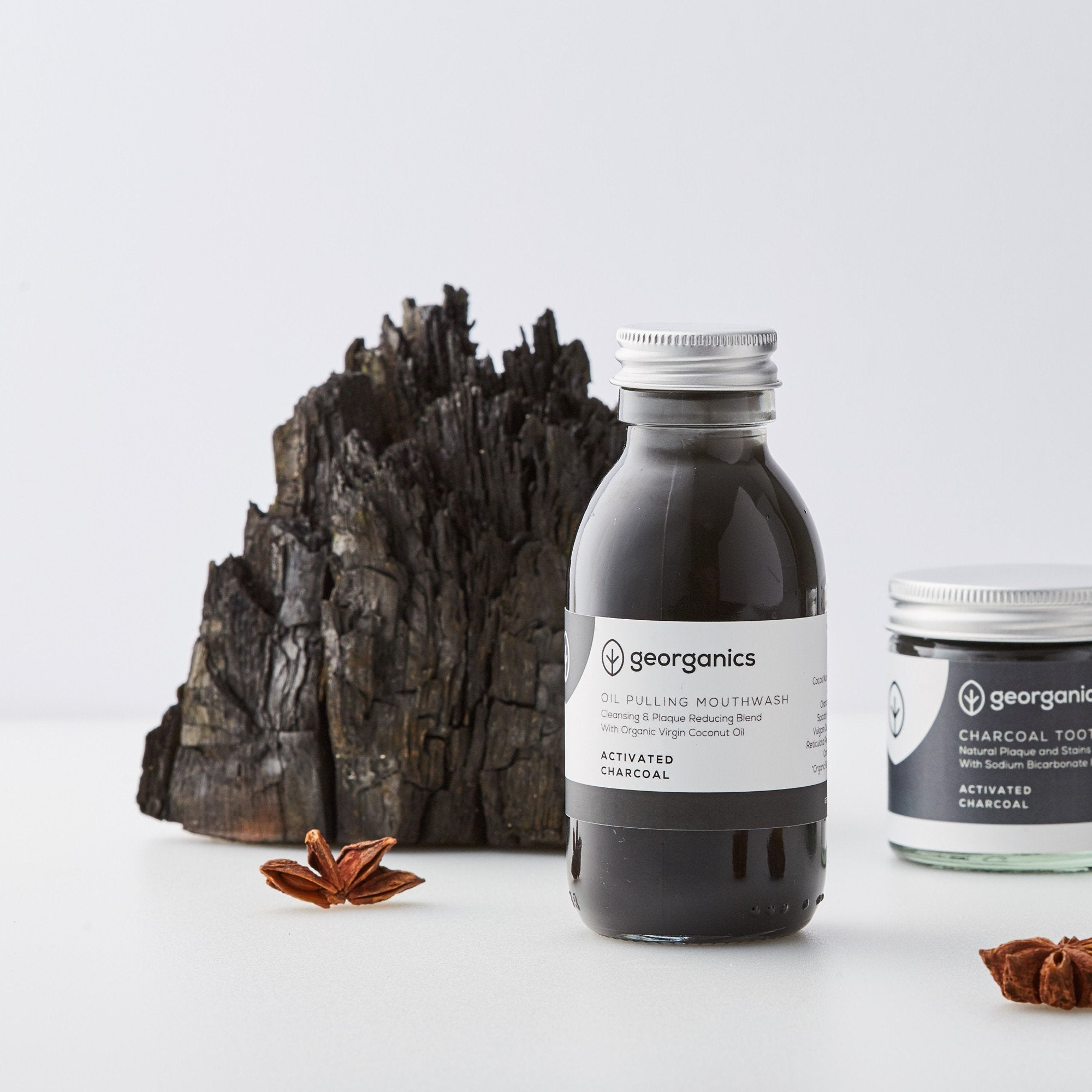Organic Coconut Oil & Food Grade Charcoal Mouthwash